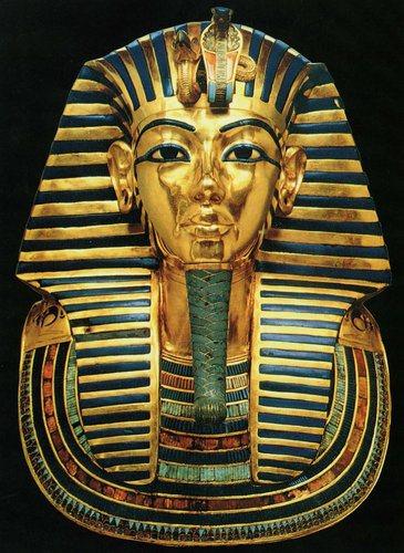 golden king tut mask