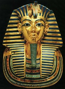 golden king tut mask